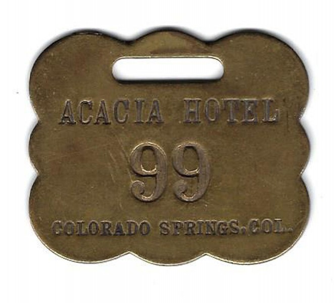 Acacia Hotel Colorado Springs luggage tag
