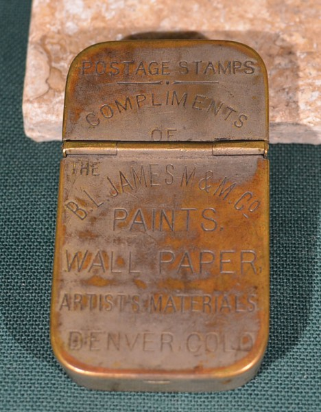 B L James M & M Co postage stamps safe 1