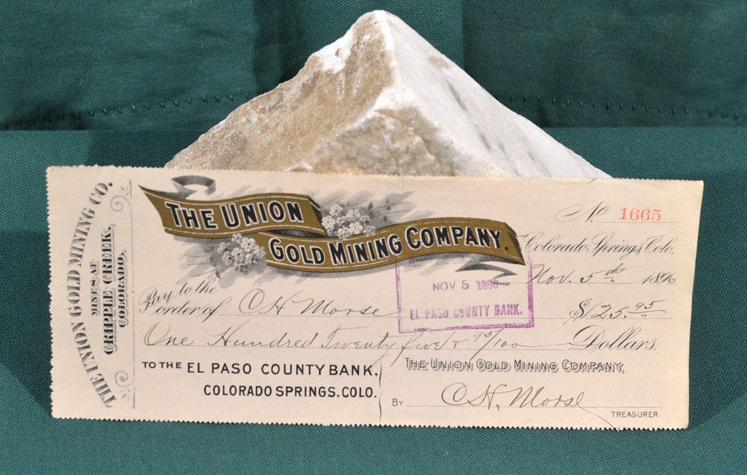The Union Gold Mining Company Check 1896