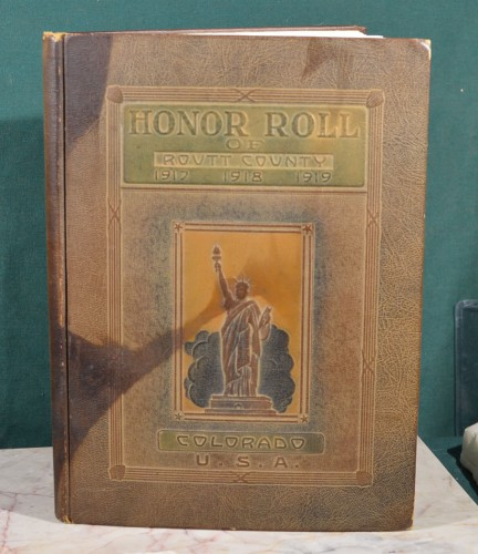 Honor Roll of Routt County Colo WWI a