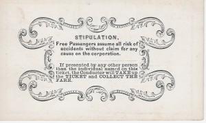 Lexington & Big Sandy RR pass 1870 b