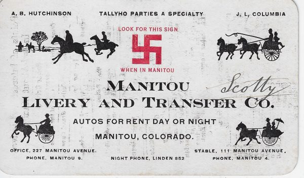 Manitou Livery & Transfer Co., Colo. 1