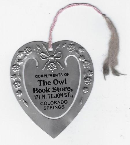 Owl Bookstore Co Sprgs bookmarker 1