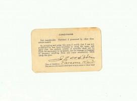 Fort Worth & Denver City Railway Company Railroad Pass 1917