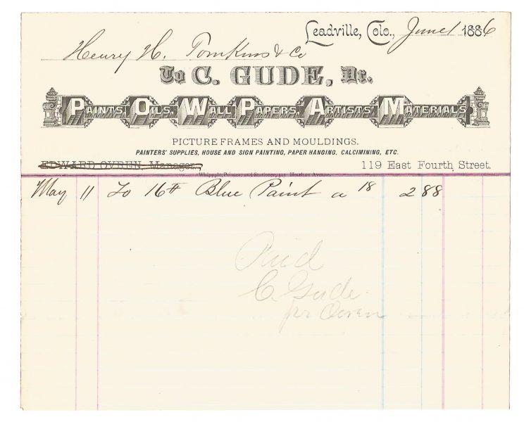 c-gude-art-supplies-billhead-leadville-colorado-1886-1