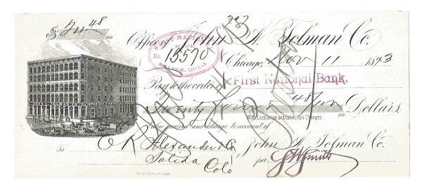 john-a-tolman-company-tea-importers-chicago-check-1893-1