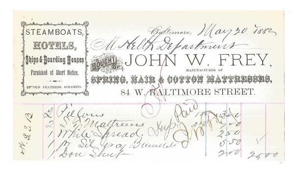 john-w-frey-smallpox-billheads-baltimore-maryland-1882-1