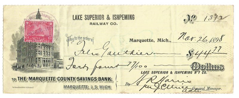 lake-superior-ishpeming-railway-company-check-1898-1