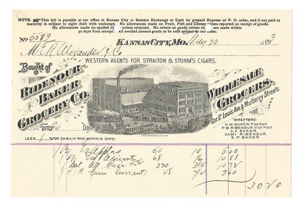 ridenour-baker-and-grocery-company-billhead-kansas-city-mo-1893