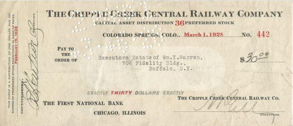 the-cripple-creek-central-railway-company-check-1928
