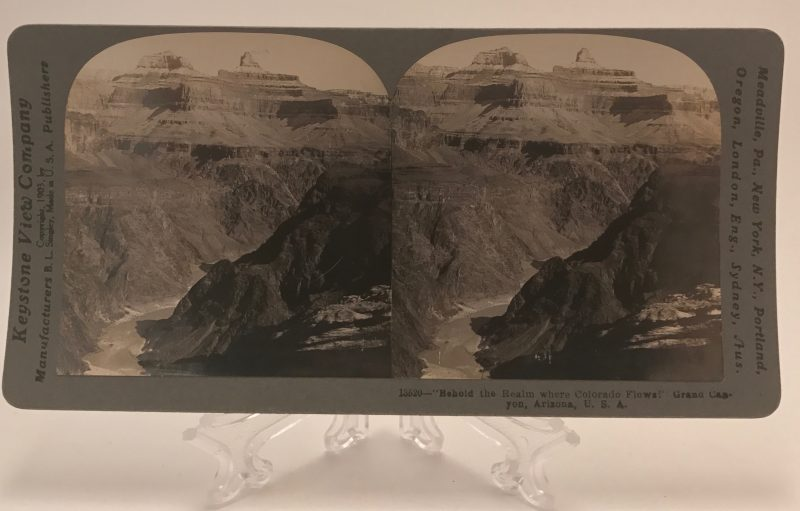 Behold the Realm where Colorado Flows! Grand Canyon Arizona Stereoview
