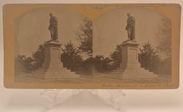 Benton Statue Monument Lafayette Park St. Louis Missouri Stereoview