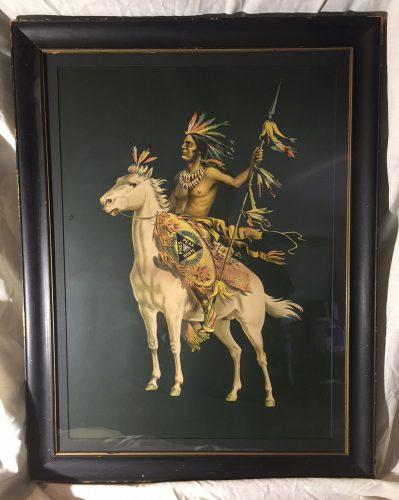 Colorado Midland Indian on Horse Poster circa 1896