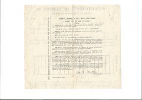 Cripple Creek Town Engineer Survey Certificate Meyer's & 4th Street 1896 2