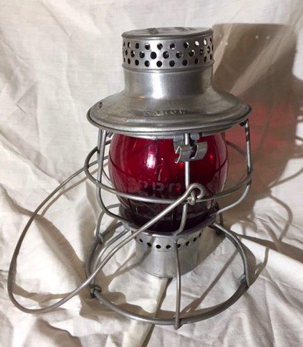 Denver & Rio Grande Western Railroad Lantern Handlan Flat Top Lantern 1921