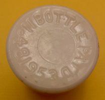 Ingrams White Glass Milk Weed Cream Bottle Detroit Michigan ca. 1910 4