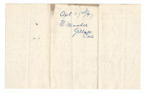Memorandum Gents' Furnisher and Hatter Document 1897 2