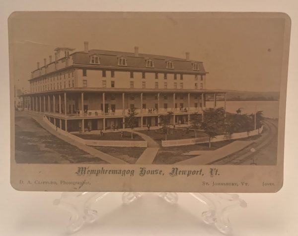 Memphremagog House Newport Vermont Cabinet Card D.A. Clifford