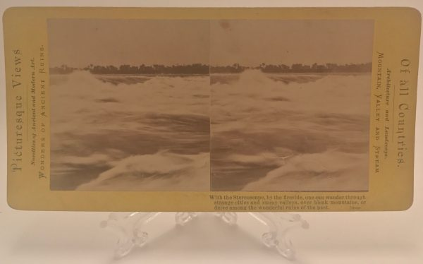 Niagara Falls-Rapids Above The Falls Xlint Stereoview