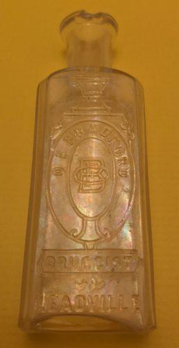 O.F. Bradford Druggist Leadville Medicine Bottle Ca. 1880