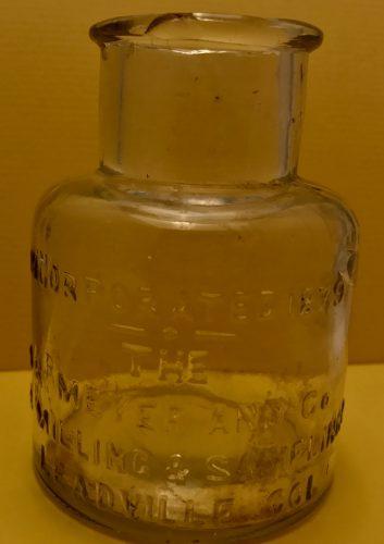 The A.R. Meyer & Co. Ore Milling & Sampling Co. Bottle Leadville Colorado Bottle ca 1890