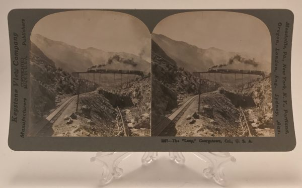 The Loop Georgetown Colorado Keystone Stereoview