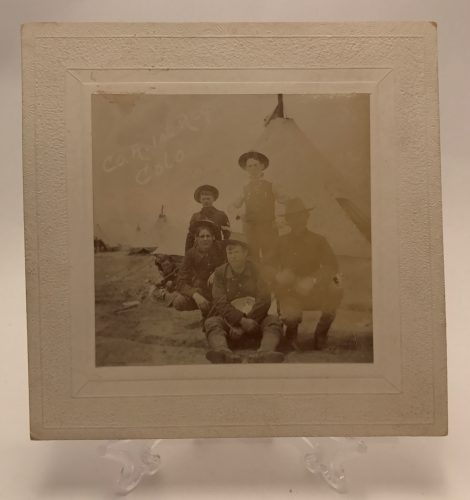 Two Cabinet Cards of Colorado Army Regiments Circa 1900 3