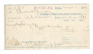 Pennsylvania Railroad Company Freight Forms 1888 & 1889 1