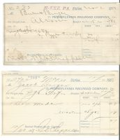 Pennsylvania Railroad Company Freight Forms 1888 & 1889 3