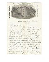 Bangor House Letters Bangor Maine 1871 Structural Vignette 5
