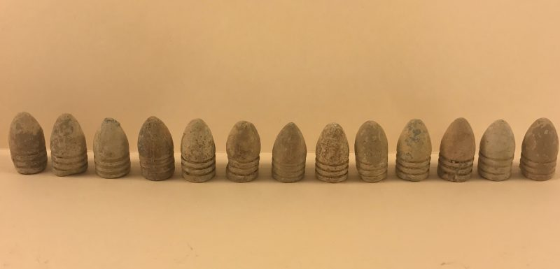 Civil War Era 3 Ring Bullets Lot of 13 ~ 0.54 Caliber