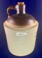 W.A. Hover & CO Wholesale Druggist Denver Colorado Whiskey Pottery Jug ca.1910 4