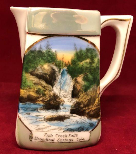The Jonroth Studios Germany Souvenir Ceramic Creamer Steamboat Springs Colorado (4)