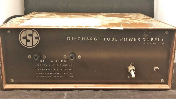 CSC Discharge Tube Power Supply Catalogue Number 97207 5900 volts 0.06 amps (1)