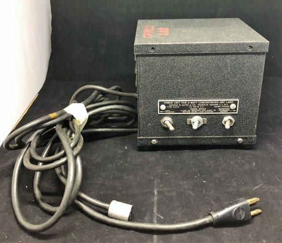 George W. Gates & Company Power Unit 2-Watt Concentrated Arc Lamp Type GZ2U (1)