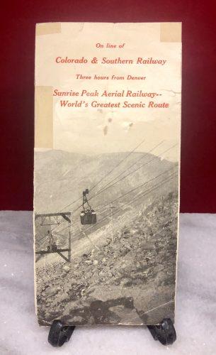 Sunrise Peak Aerial Railway Silver Plume Georgetown Colorado Brochure 1907-1917 (4)