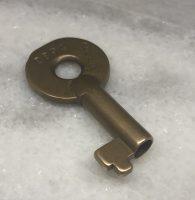 The Denver and Salt Lake Railroad Brass Adlake Lock Key ca 1930 D&SL (4)